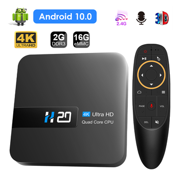 New H20 TV Box Android 10 2GB 16GB 4K TV receiver Media player 3D Video 2.4G Wifi H20 Smart TV BOX Android Set top box 1