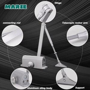 Image 4 - Серебряный гидравлический буферный дверной прибор для двери весом 25 45 кг, защита двери без позиционирования, контроллер двери, легкая установка, регулируемая скорость