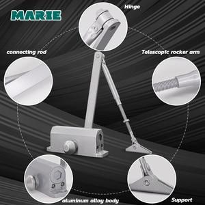 Image 4 - Fermeture de porte, tampon hydraulique en argent, pour porte de 25kg à 45kg, contrôleur de porte sans positionnement, facile à installer, vitesse réglable