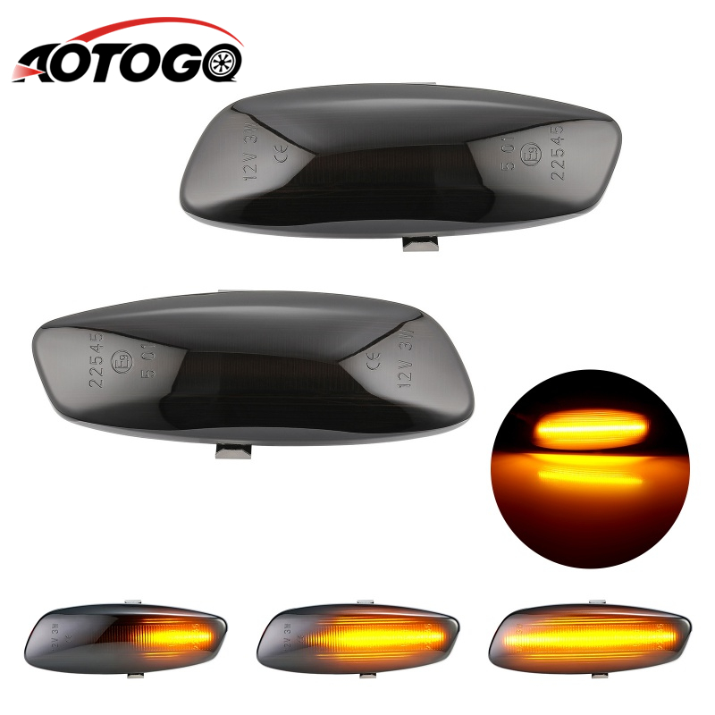 2pcs Dynamic smoke <font><b>LED</b></font> Side Marker signal <font><b>Light</b></font> For <font><b>Peugeot</b></font> 207 308 <font><b>3008</b></font> 5008 for Citroen C3 C4 C5 image