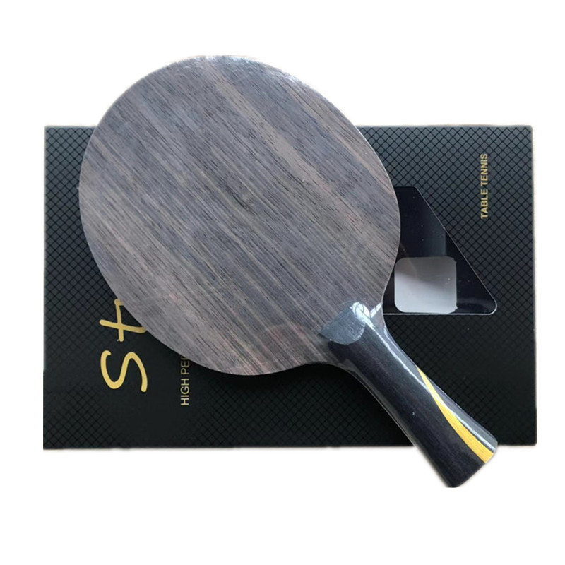 Stuor Special Blade Two-sided Heterogeneous ZLC Carbon Out And Pure Wood Long Pips-Out  Table Tennis Racket Pingpong Racket