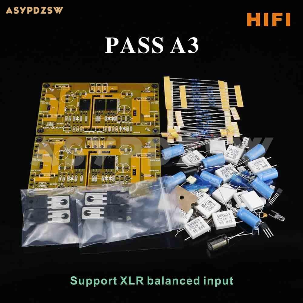 HIFI PASS A3 Single-ended Class A Power Amplifier DIY Kit 30W+30W Support XLR Input