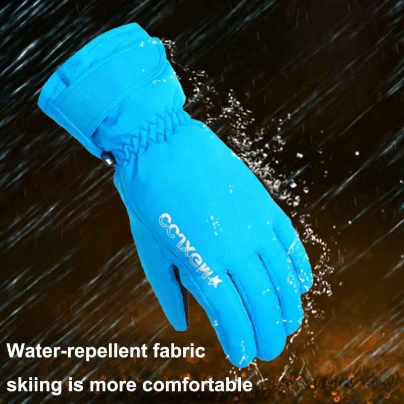 Men Women Snowmobile Winter Warm Ski Gloves Sports Waterproof Windproof Snow Mitten Adjustable Skiing Gloves
