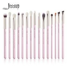 Jessup zestaw pędzli do makijażu 15 sztuk profesjonalne do powiek makijaż zestawy pędzli Eyeshadow Eyeliner brwi mieszanie korektor Brochas