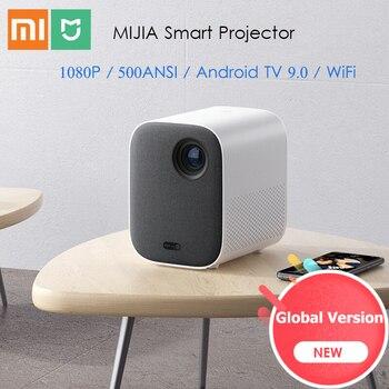 Versión Global xiaomi Mijia proyector DLP 1080P Full HD Android TV 9,0 de 500ANSI 2,4G/5G WiFi Bluetooth LED proyector