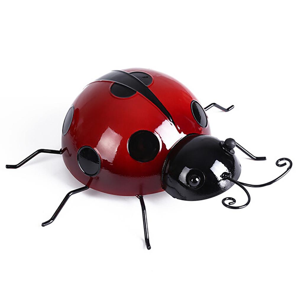 Metal Simulated Ladybug Animal Hanging Wall Art Hanger Garden Fence Home Decor New