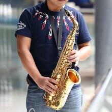 Ammoon ser alto saxofone latão lacado ouro e plana sax 82z tipo chave com escova de limpeza pano luvas cinta acolchoado caso