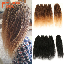 FASHION IDOL Afro Kinky Curly Hair Bundles 5pcs/pack 24 inch Ombre Blonde Nature Black Color Synthetic Hair Weave Bundles Fiber