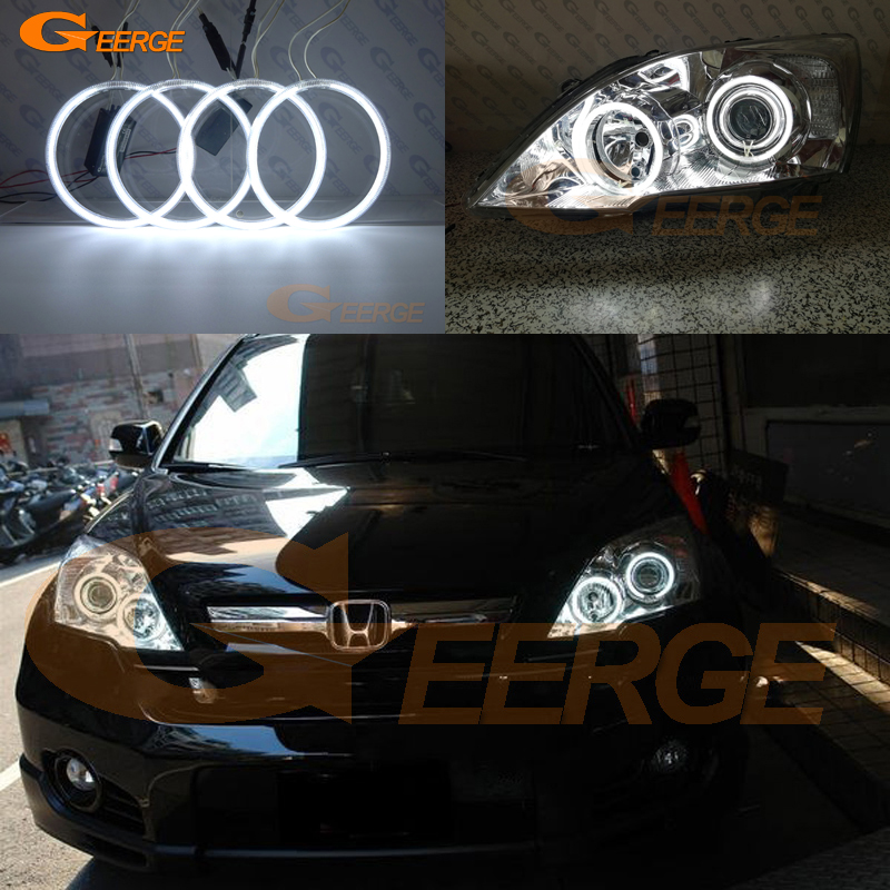 Excellent Ultra Bright Illumination CCFL Angel Eyes Kit Halo Rings For HONDA CR-V CRV III 2006 2007 2008 2009 2010 2011
