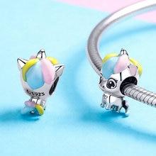 CodeMonkey 100% 925 Sterling Silver Happiness Unicorn Charm Bead Fit Original Design Bracelets & Bangles DIY Jewelry Making