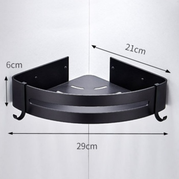 Bathroom Accessories Wall Shelf Kitchen Organizer Sucker Wall Mounted Stainless Steel Storage Corner Shelf Kitchen No Punch Hook 9