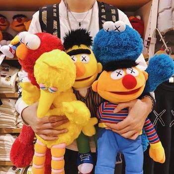 De gran tamaño 52cm kaws de sésamo Street Elmo Ernie Bert de peluche muñecos de peluche de juguete