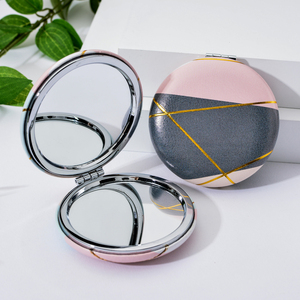 Image 2 - Vicney 2019 New Double Side Portable Mini Makeup Mirror Fashion Temperament Foldable Cosmetic Compact Mirror For Women Gifts