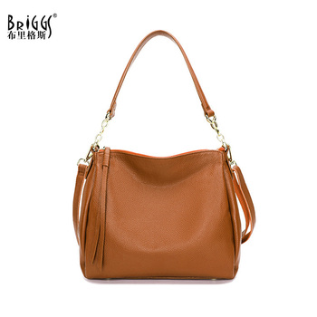 BRIGGS High Quality Genuine Leather Women Handbag Fashion Casual Tote Bag Soft Leather Female Shoulder Bag Women Crossbody Bag sac