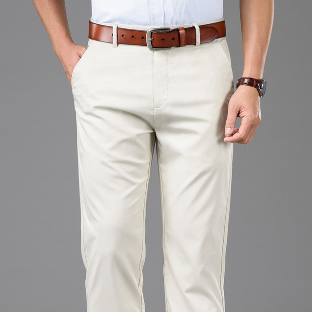 Mens Casual Cotton Trousers