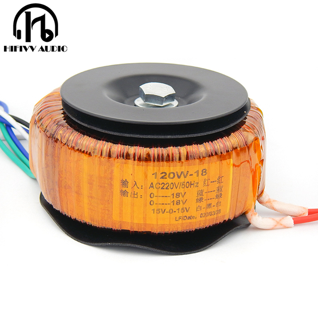 HIFI audio amp copper enamel wire toroidal transformer circular transformer power amplifier transformer 120w Output 18V 22V