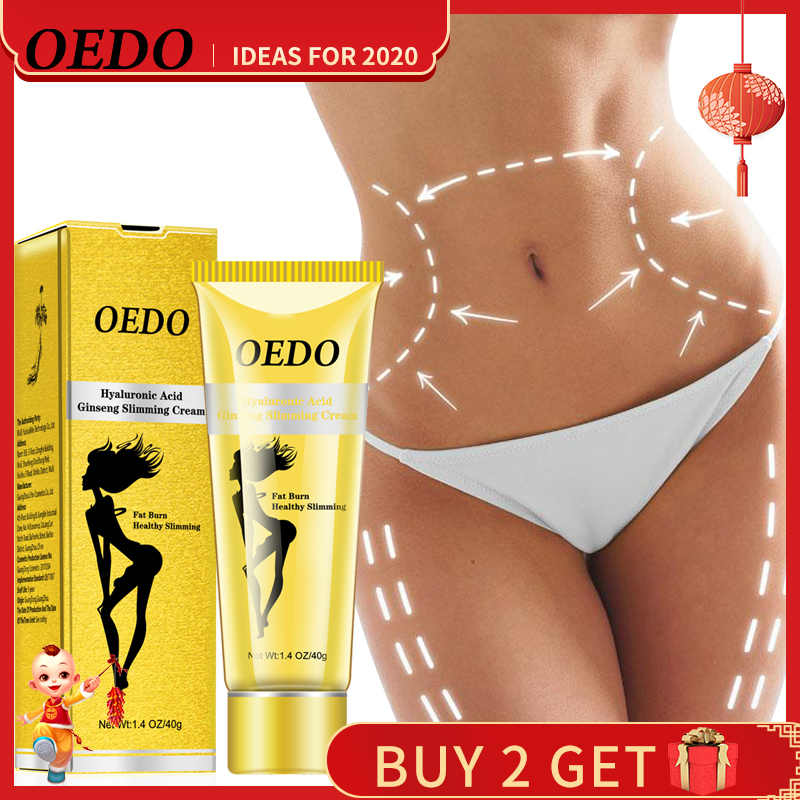 OEDO Hyaluronic Acid Ginseng Slimming Cream Reduce Cellulite Lose Weight Burning Fat Health Care