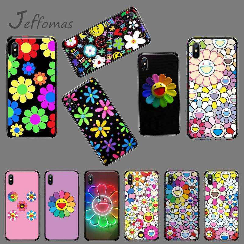 US $0.99 50% OFF|Japan Murakami sun Flower Coque Shell Phone Case For iphone 5 5s 5c se 6 6s 7 8 plus x xs xr 11 pro max|Half-wrapped Cases| - ...