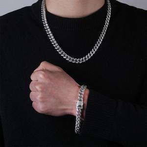 Image 4 - Topgrillz 10mm miami cubana corrente pulseira cobre ouro prata cor iced para fora micro pave cz pulseiras hip hop masculino jóias presentes