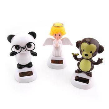 Hot Novelty Solar Toys Adorable Solar Powered Dancing Panda Santa Claus Animal Toy For Home Desk Car Decoration Kids Toys Gift 2