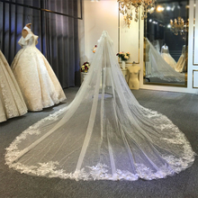 Luxury long train wedding veil  long bridal veil 2020