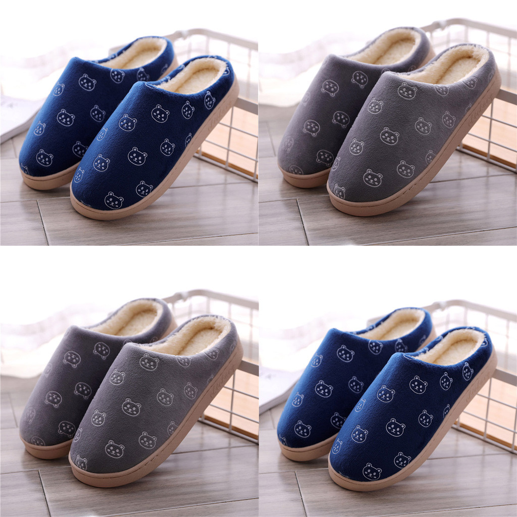 Men's Large Size Waterproof Home Plus Velvet Warm Shoes Cotton Slippers Shoes Men  Zapatos De Hombre обувь  мужская 2020