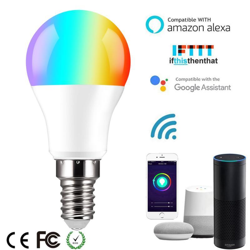 Новый затемнения E14 RGB светодиодный смарт-лампа 6 Вт светодиодный Bluetooth лампы RGBW/RGBWW умная лампа музыка Управление совместим с IOS /Android
