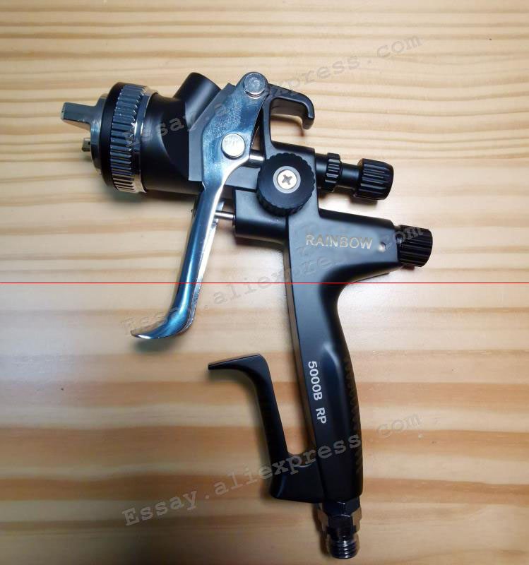 BLACK  Edition Porsche Design RP Spray Gun-1.3 Nozzle W/t Tank For Car Body, Painted Sprayer High Efficiency