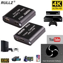 HD 1080P 4K HDMI Video Capture Card HDMI To USB 2 0 3 0 Video Capture Board Game Record Live Streaming Broadcast TV Local Loop cheap RULLZ CN(Origin) 4K USB 2 0 3 0 Capture Card Box