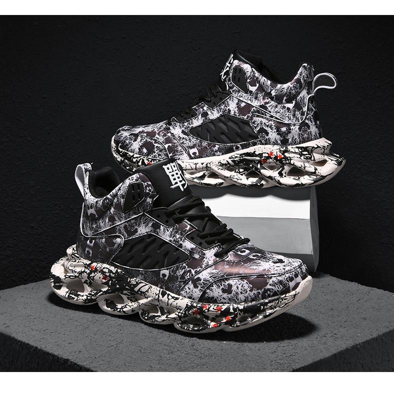 H5904b16daf9847069368f2264e59217fV Fashion Men's Hip Hop Street Dance Shoes Graffiti High Top Chunky Sneakers Autumn Summer Casual Mesh Shoes Boys Zapatos Hombre