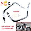 XVS 1100 Do Motor Da Motocicleta Guarda Protetor Bar Acidente Amortecedor Bumper Quadro Para Yamaha Vstar V Star 1100 DS1100 XVS1100 Personalizado
