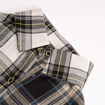 ALLKPOPER KPOP  Plaid Shirt Women Bangtan Boys SUGA Blouse Korea Fashion Plus Size Casual Spring Autumn Splice Shirts 3