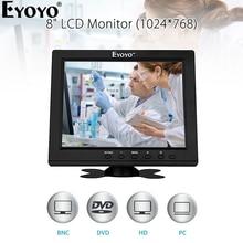 Eyoyo EM08B 8 Inch Small Mini Computer TV Monitor TFT LCD Screen 1024x768 Moniteur With BNC VGA HDMI For PC CCTV Security Camera