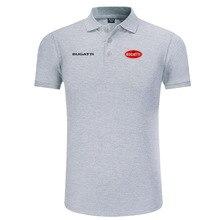 Рубашка поло с логотипом Bugatti, Мужская брендовая одежда, однотонные рубашки поло, повседневные хлопковые рубашки поло с коротким рукавом