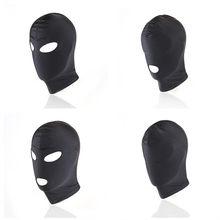 Bdsm gay brinquedos cabeça bondage máscara capuz fetiche escravo restringir acessórios tecido elástico sensorial privação capa ferramentas sexuais para homem