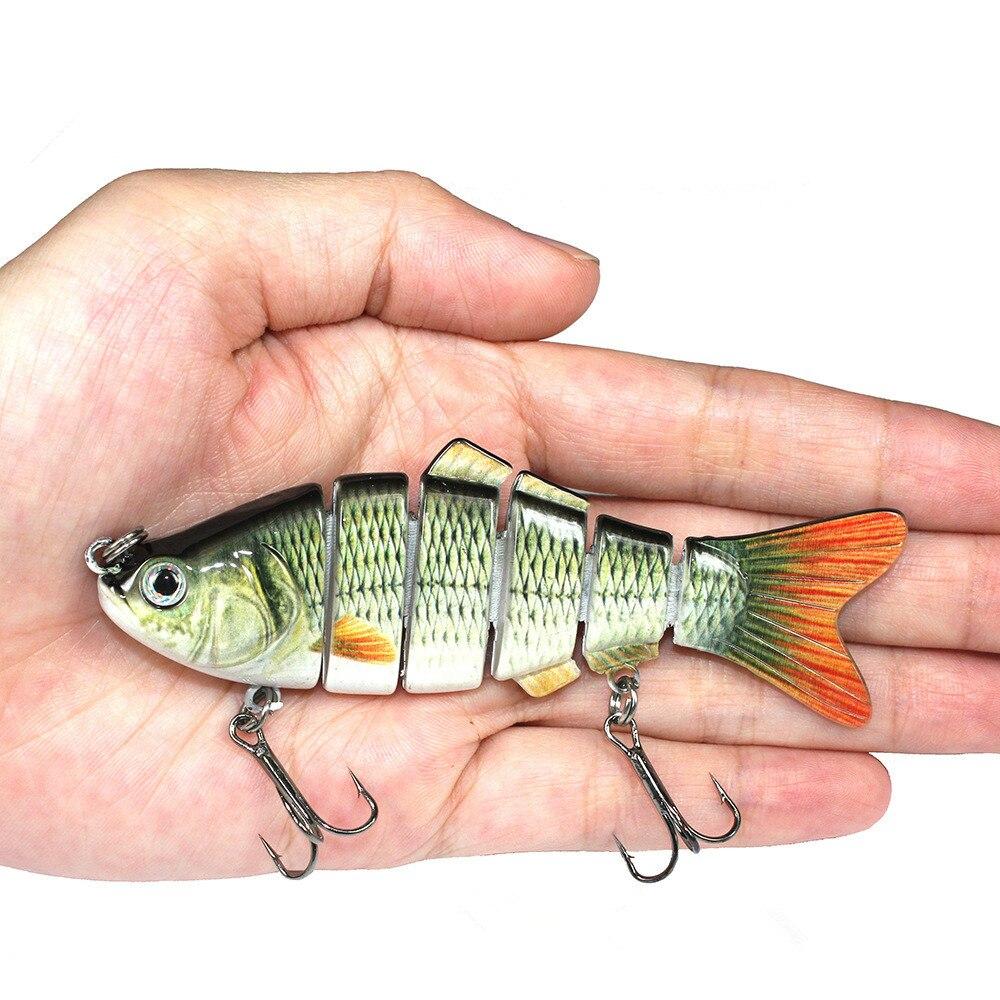 10cm 20g Fishing Lure With 2 Hook Fishing Baits 3D Eyes 6-Segment Lifelike Fishing Hard Lure Crankbait  Pesca Cebo