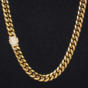 DNSCHIC Cuban Necklace Jewelry-Link Chain-Link Stainless-Steel Rapper Hip-Hop Women Street-Fashion