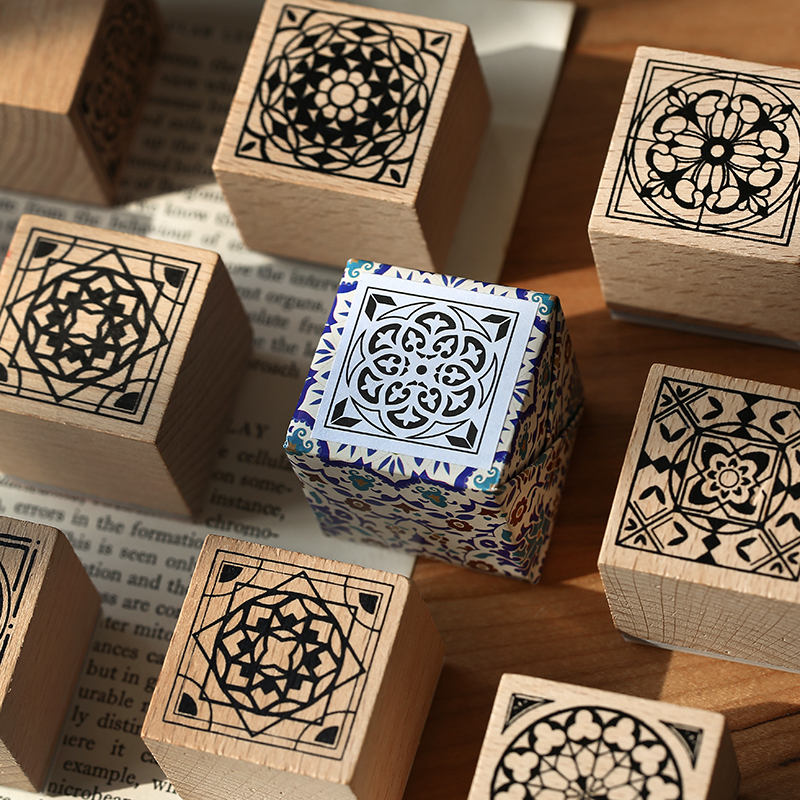 Paris With Amnesia Series Decoration Stamp Wooden Tiles Rubber Stamps For Scrapbooking Stationery DIY Craft Standard Seal