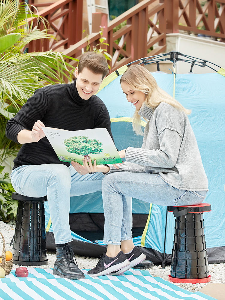Folding Chair Retractable Stool Camping-Stool Outdoor Convenient