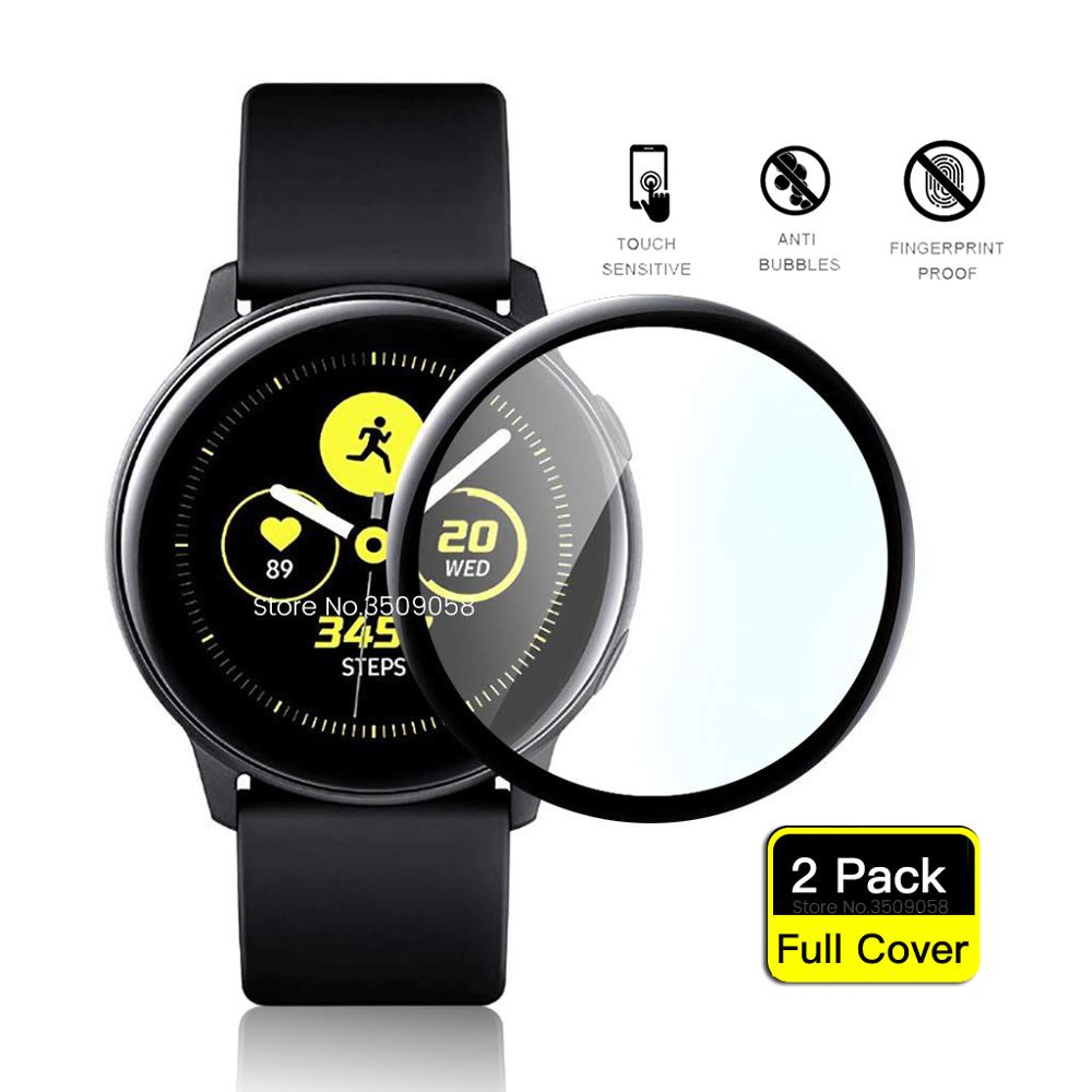 3D Full Coverage Armor Protection Glass For Samsung Galaxy Watch Active 2 40mm /44mm Screen Protector Film Safe Glasses Active2