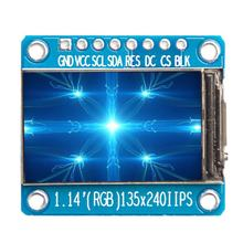 8Pin 1.14'' IPS Full Color SPI HD TFT Display Screen 135x240 ST7789 for Arduino TFT Display Screen Module Drive IC(China)