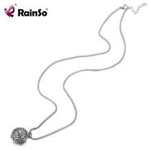 RainSo2020 magnetyczny Link Chain stal nierdzewna i magnesy ball naszyjniki zdrowie na zapalenie stawów bioenergetyczna uzdrawiająca moc naszyjnik tanie tanio STAINLESS STEEL Kobiety Moc naszyjniki TRENDY Link łańcucha Metal ROUND Wszystko kompatybilny Rocznica Improve Blood circulation