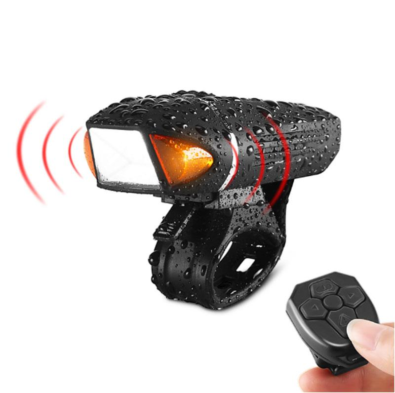 Remote <font><b>Flashlight</b></font> <font><b>For</b></font> Bicycle Alarm Bell Horn <font><b>Bike</b></font> Light Front Head Cycling Lamp USB Rechargeable Road MTB Bicycle Light Lantern image