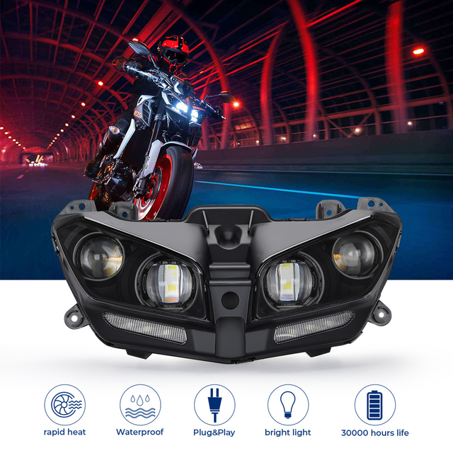 Motorcycle Headlight Waterproof LED Lights For YAMAHA MT09 MT 09 MT-09 2017 2018 2019 2020 Motorcycle LED Lamp DRL 110W Bright 2