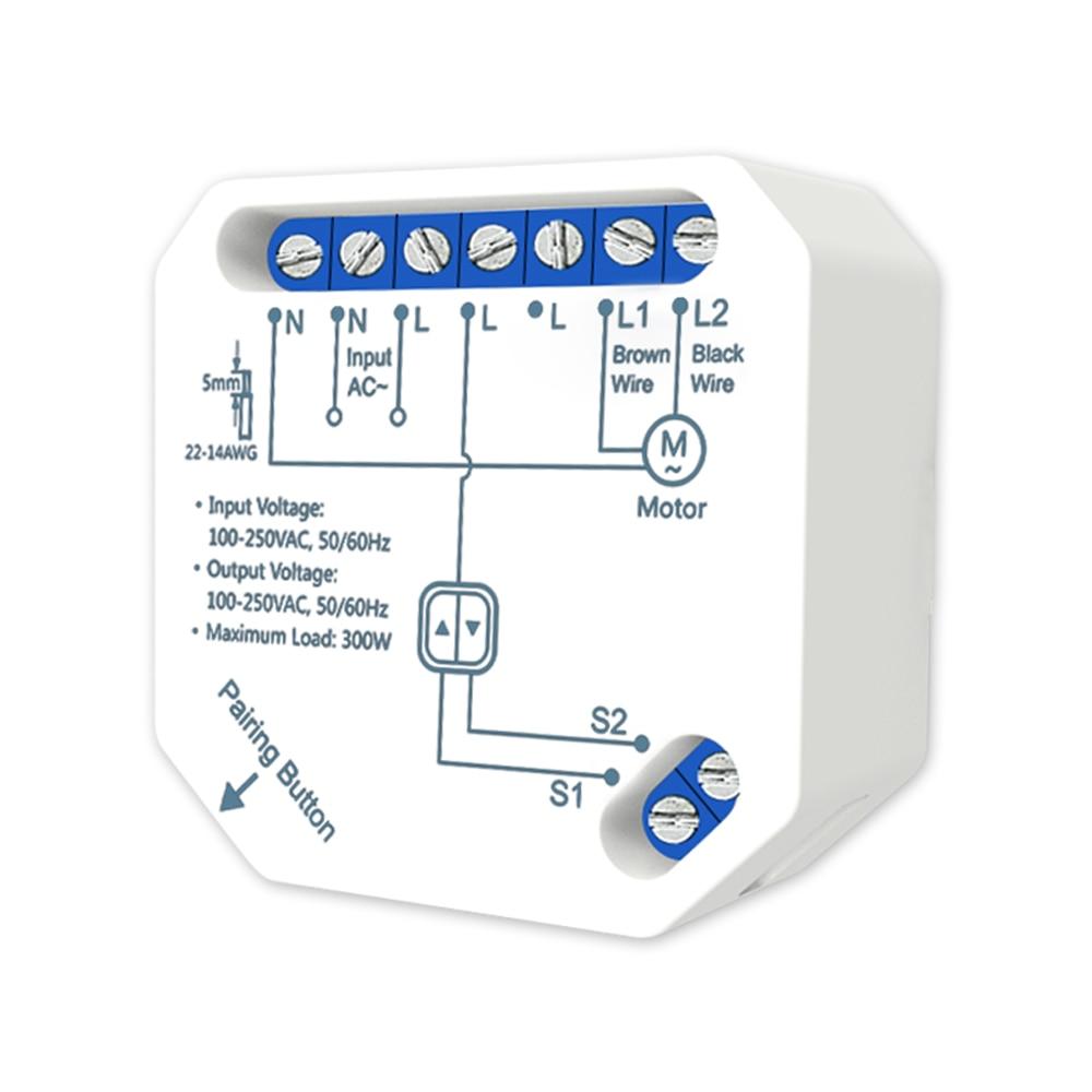 Tuya Smart WiFi RF Electric Curtain Blind Switch Module For Roller Shutter Motor , Work With LoraTap Shutter Remote