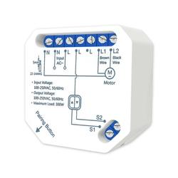 Tuya inteligente wifi rf cortina elétrica interruptor cego módulo para o motor do obturador do rolo, trabalho com loratap obturador remoto