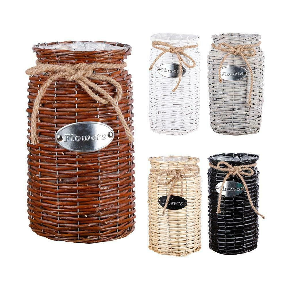 Woven Storage Basket Flower Plants