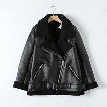 Корейская теплая женская зимняя мотоциклетная бархатная куртка Женская Короткая Меховая Толстая версия плюс бархатная куртка-бомбер