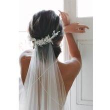 Новое поступление 2 м белая Длинная свадебная фата с обрезанными