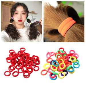 Candy-Color Hair-Accessories Ponytail-Bands Rubber-Band Elastic Girls Nylon for Scalp